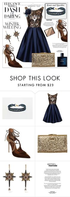 """""""Daring Winter Wedding"""" by lory187 ❤ liked on Polyvore featuring Chi Chi, Le Silla, Element, Alexander McQueen and Elizabeth Arden"""