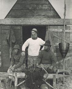 East Coast Fishermen. 1886.  wood B men jumpers trousers hats