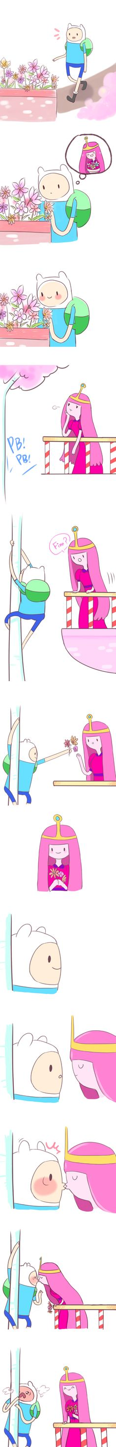 Finn and Princess Bubblegum by Viate