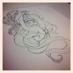 Illustration by Sara Fabel - Closest to perfection gravity and the Brest are perfect smooth realistic yet flowing lines Sexy ink period! Tattoo Sketches, Tattoo Drawings, Witchcraft Tattoos, Sara Fabel, Geometric Deer, Tattoo Ideas, Tattoo Designs, Zombie Girl, Tattoo Apprentice