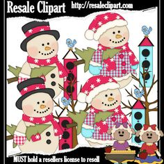 Jolly Snowman Fun 2 Clipart Digital Download by MaddieZee on Etsy, $1.50