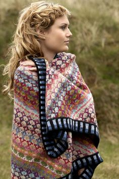 Mongolia shawl knitting kits from Christel Seyfarth. Christel is from Denmark; an accomplished Fair Isle knitter/designer. Knitting Kits, Fair Isle Knitting, Knitting Designs, Knitting Socks, Knitting Patterns Free, Knitting Projects, Hand Knitting, Knitted Shawls, Knitted Blankets