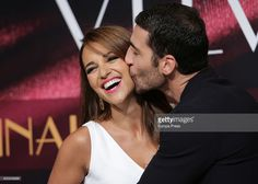 Miguel Angel Silvestre and Paula Echevarria attend 'Galerias Velvet' Press Conference on December 19, 2016 in Madrid, Spain.
