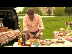 James Martin demonstrates his own take on the tradition Italian sandwich, dubbed 'The Burghley Bloomer' ahead of the Land Rover Burghley Horse Trials. Chef James Martin, Martin S, Burghley Horse Trials, Pan Bagnat, Savoury Pies, I Chef, Calorie Counting, Pastries, Bbc