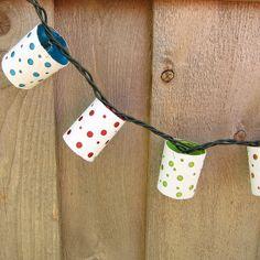 Polka Dot Paper Lanterns by katbaro, via Flickr