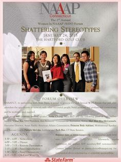 """Women in NAAAP!'s """"Shattering Stereotypes"""" at Hartford, CT. 1/24/13"""