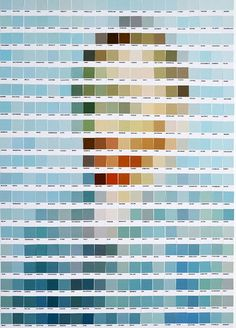 Nick Smith - 'Pantone Van Gogh' - I like how these Pantone paint swatches have been perfectly matched to form this portrait of van gogh, I find this piece clever and fun. Vincent Van Gogh, Pantone Swatches, Paint Swatches, Color Swatches, Environment Quotes, Appropriation Art, Ceramic Mosaic Tile, Famous Artwork, 3d Max