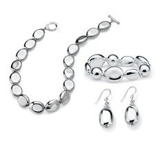 Silvertone Tailored Jewelry Set