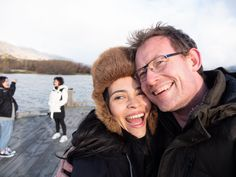 Photographer Charles Brooks (me) with fiancee Yasna Parra during a scouting trip through Central Otago on New Zealand's South Island.