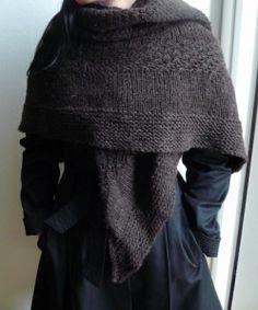 Simple wool shawl