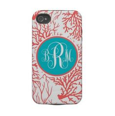 personalized iPhone case-coral