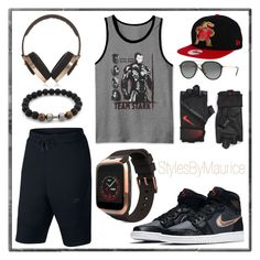 """""""Men Athletic Apparel"""" by mauricee-brewer on Polyvore featuring NIKE, MyKronoz, JEM, Pryma, New Era, Ray-Ban, men's fashion and menswear"""