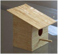 Vogelhaus aus Streichhölzern basteln