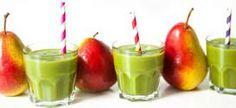 Grüne Smoothies       1 Handvoll Feldsalat (alternativ: Spinat)     1 Handvoll (grüne) Trauben     1 große  Birne mit Schale     1 Banane, geschält     Saft von 1/2 Limette & Limettenabrieb     150 ml Wasser     Menge: ca. 600 ml