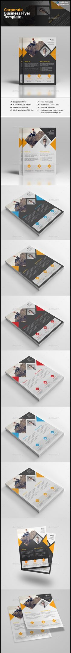 Corporate Clean Flyer Template Vector EPS, AI Illustrator #design Download: http://graphicriver.net/item/corporate-clean-flyer/13472865?ref=ksioks