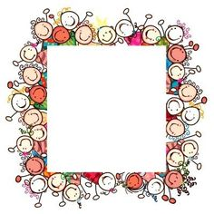 Children`s day homework Borders For Paper, Borders And Frames, Yoga For Kids, Art For Kids, Page Borders, Cute Clipart, Santa Letter, Writing Paper, Paper Background