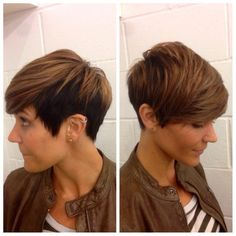 Photo of Running With Scissors Hair Studio - Santa Ana, CA, United States. Pixie cut and color on our guest! By Steven-David!
