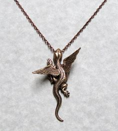 Dragon Necklace Pendant by ranaway on Etsy, $50.99