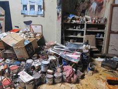 Reconstruction of Francis Bacon's studio, Dublin City Art Gallery The Hugh Lane, Dublin, 2011. Photograph: Rick Poynor. From the essay: The Never-Ending Struggle against Clutter