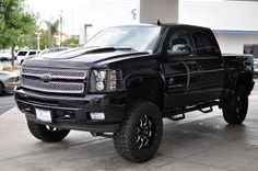 Only Lifted Trucks: Southern Comfort 2013 Chevy Silverado 1500 Black Widow New Lifted Truck