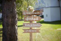 Hochzeitsdeko - Einzelne Holzschilder (Wegweiser) - ein Designerstück von Frick-15 bei DaWanda