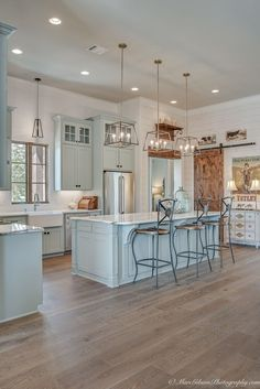 Best Rustic Farmhouse Kitchen Cabinets in List - Page 69 of 119 - Decorating Ideas - Home Decor Ideas and Tips Unfinished Kitchen Cabinets, Farmhouse Kitchen Cabinets, Modern Farmhouse Kitchens, Farmhouse Style Kitchen, Home Kitchens, Rustic Farmhouse, Open Cabinets, Kitchen Wood, Kitchen Small