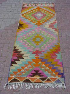 Anatolian Turkish Antalya Barak Kilim Kelim Rug Runner Carpet 33 4 x 90 1 | eBay