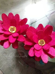 Hobby Crafts :): Ice Cream Stick Flowers for CSCC August Week #2 Challenge