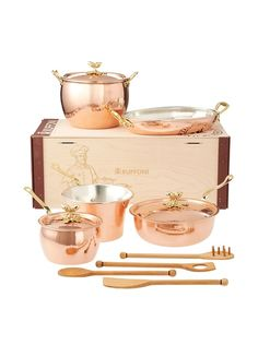 Ruffoni Historia Décor 8-Piece Cookware Set with Acorn Knobs at MYHABIT