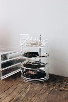 Recipientes de disco de plástico claro para suprimentos de cabelo