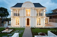 front of french provincial display home