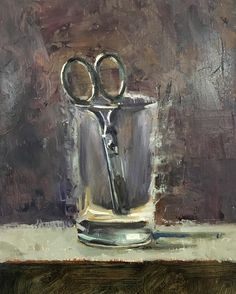 school scissors, oil 5x7 from craig stephens (@craigstephensart) on instagram