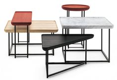 Torei side and coffee tables by Luca Nichetto for Cassino