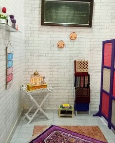 30 Praying Room Ideas To Bring Your Ramadan More Beautiful Prayer Corner, Beautiful Home Designs, Ramadan Decorations, Prayer Room, Room Interior Design, Small Spaces, Small Apartments, Living Room Decor, Prayers