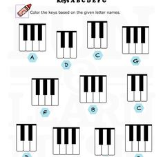 Free Printable Piano Worksheets to help kids learn the