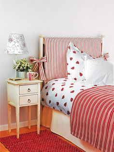 It doesn't take much to totally revamp a plain room and inject colour without overpowering the senses. Decor, Home, Slipcovers For Chairs, Headboard Decor, Headboard Cover, Home Bedroom, Small Room Design Bedroom, Bedroom Deco, Home Decor