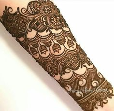 Half Arm Heavy Embroidered Henna Design is just awesome to...
