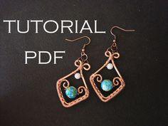 Tutorial earrings tutorial in handmade от MargoHandmadeJewelry