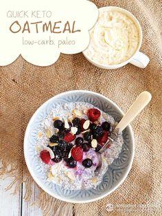 Quick Keto Oatmeal (low-carb, paleo, vegan)