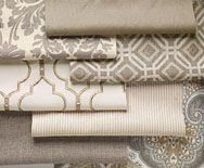 fabric Collection- love the combo!  Want to see it on my bed!
