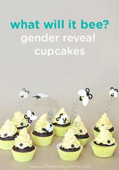 What will it BEE—a boy or a girl? Share the marvelous news with these adorable gender reveal cupcakes. Have a little fun and let your baby shower guests vote on what they think it will be before they bite into this delicious dessert!