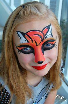 Ashley Alvey Fox Face Painting Design