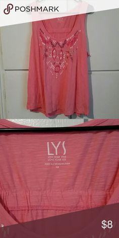 LYS pink tank top 1x LYS pink tank top 1x with design Tops Tank Tops