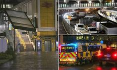 Police launch murder investigation after man is stabbed to death at East Croydon station Croydon, Ambulance, Mail Online, Daily Mail, Police, Death, Product Launch, Law Enforcement