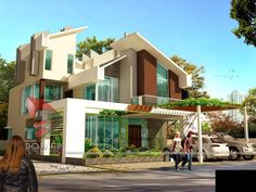 Ultra Modern Home Designs: House 3D Interior Exterior Design Rendering