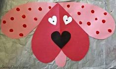 Valentine's Day Heart Shaped Animal Crafts For Kids - Crafty Morning Diy And Crafts Sewing, Easy Paper Crafts, Adult Crafts, Paper Crafting, Valentine's Day Crafts For Kids, Animal Crafts For Kids, Valentines Day Heart Shaped Animals, Puppy Crafts, Valentine Crafts For Kids