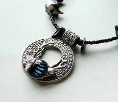 Fine Silver Dichroic Glass Sea Pendant by SweetleafSisterz on Etsy, $110.00