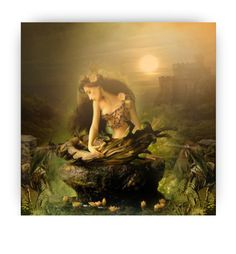 """Moonlight Bathing"" by auntiehelen ❤ liked on Polyvore featuring art"