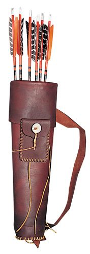 Full Product Info: Rover Leather Back Quiver with Pocket