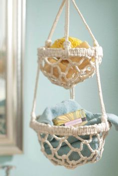 DIY Macrame Hanging Basket | FREE Macrame Tutorial on http://Joann.com